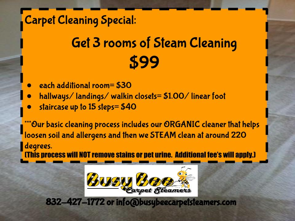 Houston Carpet Steam Cleaning Service Busy Bee Carpet